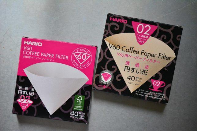 ハリオ ペーパーフィルター 白 茶